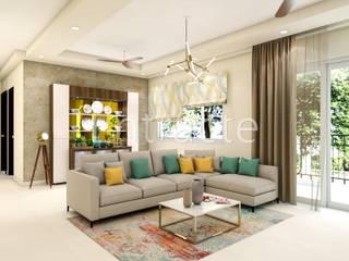 Prestige Lakeside Habitat - 12071 Modern living room by Entracte Modern
