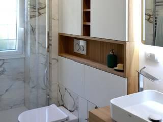 Ristrutturazione appartamento 50 mq - Roma Bagno moderno di Francesca Rubbi Architecture Moderno