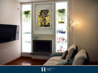 Ristrutturazione appartamento 50 mq - Roma Soggiorno moderno di Francesca Rubbi Architecture Moderno