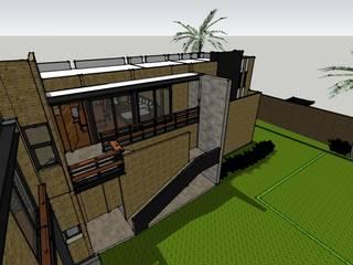 PROYECTO CASA HABITACION Y LOCALES COMERCIALES Casas minimalistas de AVANZA ARQUITECTOS Minimalista