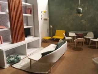 Design de Interiores | Projeto de Organização Visual e Dimensionamento Espaço Interior [SALA ESTAR|JANTAR & ZONA TRABALHO] por Pratas Com F