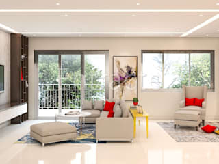 PLH Tower 6 Modern living room by Entracte Modern