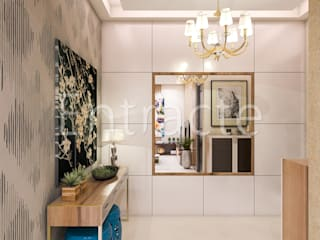 PLH Tower-6 Asian style corridor, hallway & stairs by Entracte Asian