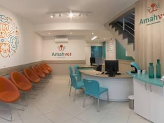 AmahVet - Clínica Veterinária no Tatuapé, SP. Vinicius Moska - fotografia e produção artística Clínicas modernas Branco