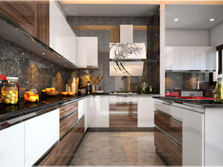 Monnaie Interiors Pvt Ltd KitchenKitchen utensils Wood Wood effect