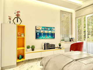 Modern Home with Minimalistic Furniture Minimalist nursery/kids room by Lakkad Works Minimalist