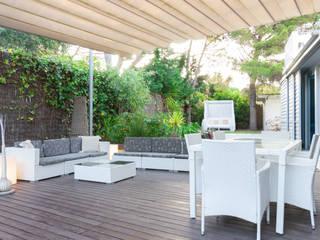 Home Staging Vivienda de lujo en Sitges Lala Decor HomeStaging & Reformas Integrales de pisos JardínMobiliario Blanco
