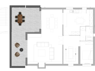 Ampliación de vivienda unifamiliar aislada Comedores de estilo moderno de AMSA Arquitectura SLP Moderno