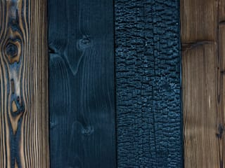Wood of Fire Walls Wood Black