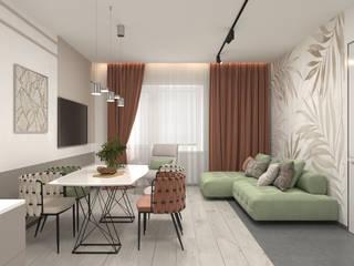 Salones minimalistas de AnARCHI Minimalista
