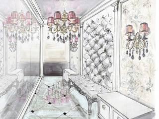 Nowoczesny korytarz, przedpokój i schody od Студия дизайна интерьера 'Золотое сечение' Nowoczesny