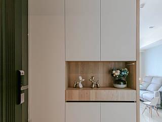 惠宇禮仁 林公館 拓雅室內裝修有限公司 斯堪的納維亞風格的走廊,走廊和樓梯