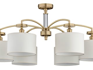 Bespoke Lighting Solutions for low ceiling Luxury Chandelier Modern bathroom Copper/Bronze/Brass Amber/Gold