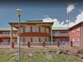 Home Design Emporium Ruang Komersial Gaya Country Batu Bata Brown
