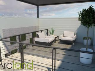 Modern balcony, veranda & terrace by Arqland arquitectura y paisajismo Modern