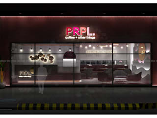 PRPL CAFE by The tree design studios Minimalist