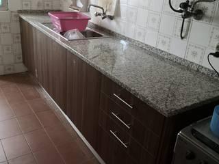 Bancada de Cozinha NCG Cozinhas CozinhaBancadas MDF Castanho