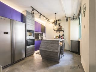 """Project 5Room Resale """"Eclectic Urban Industrial"""" Eclectic style kitchen by Chapter 3 Interior Design Eclectic"""