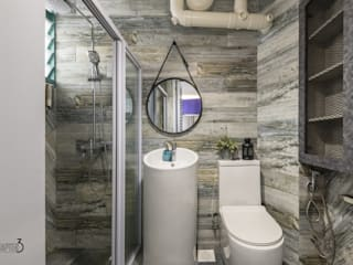 """Project 5Room Resale """"Eclectic Urban Industrial"""" Industrial style bathroom by Chapter 3 Interior Design Industrial"""