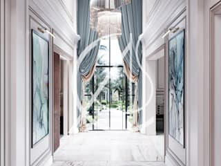 Pasillos, vestíbulos y escaleras modernos de Comelite Architecture, Structure and Interior Design Moderno