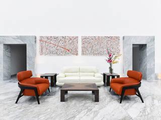 Fraccionamiento Fuentes de las Lomas Pasillos, vestíbulos y escaleras modernos de ArquiFoto Moderno