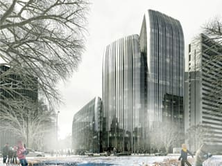 The Waltz of Light and Ice – Jilin Financial Centre by Architecture by Aedas Modern