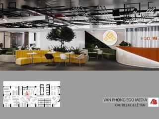 Thiết kế nội thất văn phòng EGO Media bởi Thiết Kế Nội Thất - ARTBOX