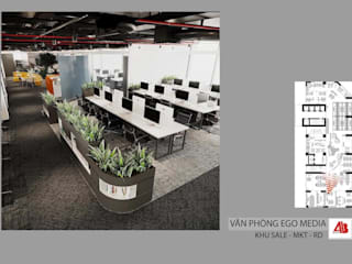 Thiết kế nội thất văn phòng EGO Media Thiết Kế Nội Thất - ARTBOX