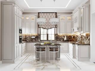 Архитектурное Бюро 'Капитель' ห้องครัว หินอ่อน White