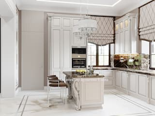 Архитектурное Бюро 'Капитель' Kitchen Marble White