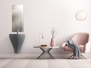eto' Modern bathroom Ceramic Grey