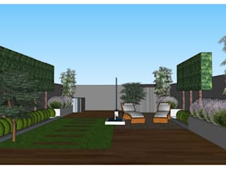 Architectural/Contemporary Design for an Urban Garden The Rooted Concept Garden Designs by Deborah Biasoli Сад в стиле модерн