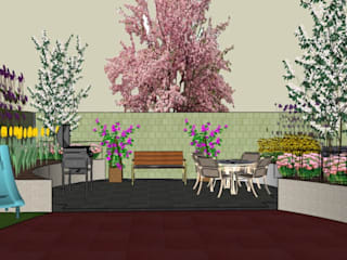 Small Family Urban Garden The Rooted Concept Garden Designs by Deborah Biasoli Сад в эклектичном стиле