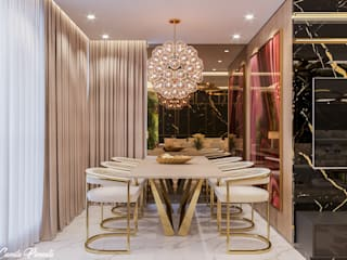 Modern dining room by Camila Pimenta | Arquitetura + Interiores Modern