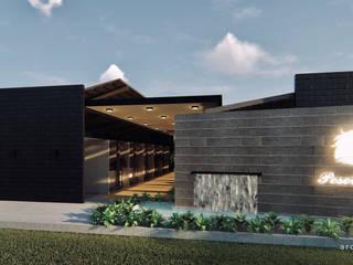 Diseño Arquitectónico pesebreras de 4.19Arquitectos Moderno