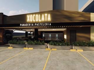 Diseño Arquitectónico y De Interiores PANADERIA XOCOLATA de 4.19Arquitectos Moderno