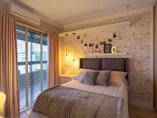 PANORAMA Arquitetura & Interiores Eclectic style bedroom