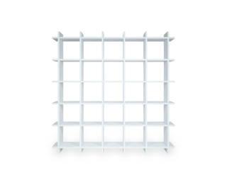 Shelly White Shelf – stabiles Papierregal 5×5 trotz geringem Gewicht (20 kg) PAPERCOMB - Novidi GmbH WohnzimmerRegale Papier Weiß