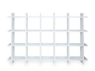 Shelly White Shelf – nachhaltiges Pappregal 3×5 PAPERCOMB - Novidi GmbH Fitnessraum Papier Weiß