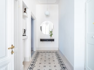 Archifacturing Classic corridor, hallway & stairs Marble White