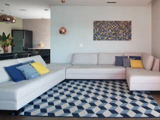 Projeto fotos - Apartamento em Moema - Arquiteto Gabriel Salas de estar modernas por Sébastien Abramin Fotógrafo de arquitetura Moderno