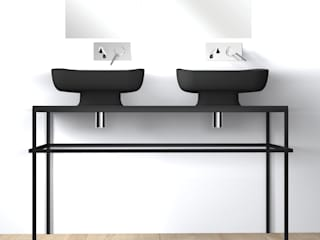 eto' Modern style bathrooms Ceramic Black