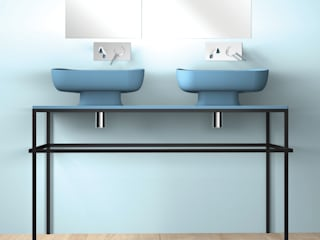 eto' Modern bathroom Ceramic Turquoise