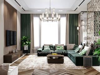 Архитектурное Бюро 'Капитель' Living room Tiles Green