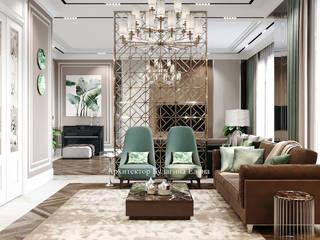 Архитектурное Бюро 'Капитель' Living room Ceramic Beige
