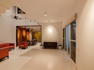 Villa Remodelling Ideation Design Minimalist living room Bricks White