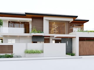 MANOR HOUSE Asian style house by ezpaze design+build Asian
