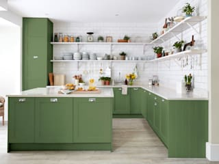 Devon Green Kitchen for Sanderson Paint Alice Margiotta Dapur Gaya Country Green