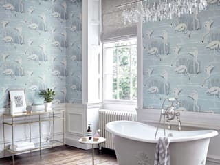 Salinas Bathroom for Harlequin Alice Margiotta Salle de bain classique Bleu