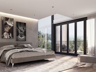 Modern Family Residence, Johannesburg TOP CENTRE PROPERTIES GROUP (PTY) LTD Modern style bedroom